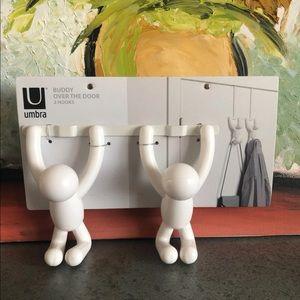 Umbra - Buddy - Over the Door 2 hooks - white